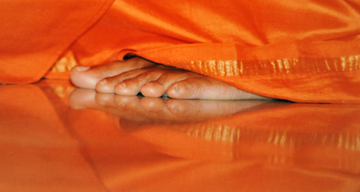 The whole Universe is all about reflection. 'Reflect' on those beautiful feet and they will 'reflect' in your heart as well! That is Divine Deja vu.