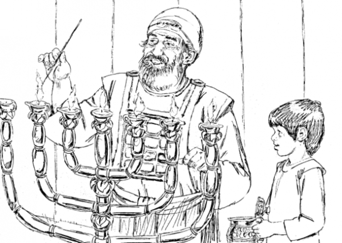 Samuel and Eli Coloring Page