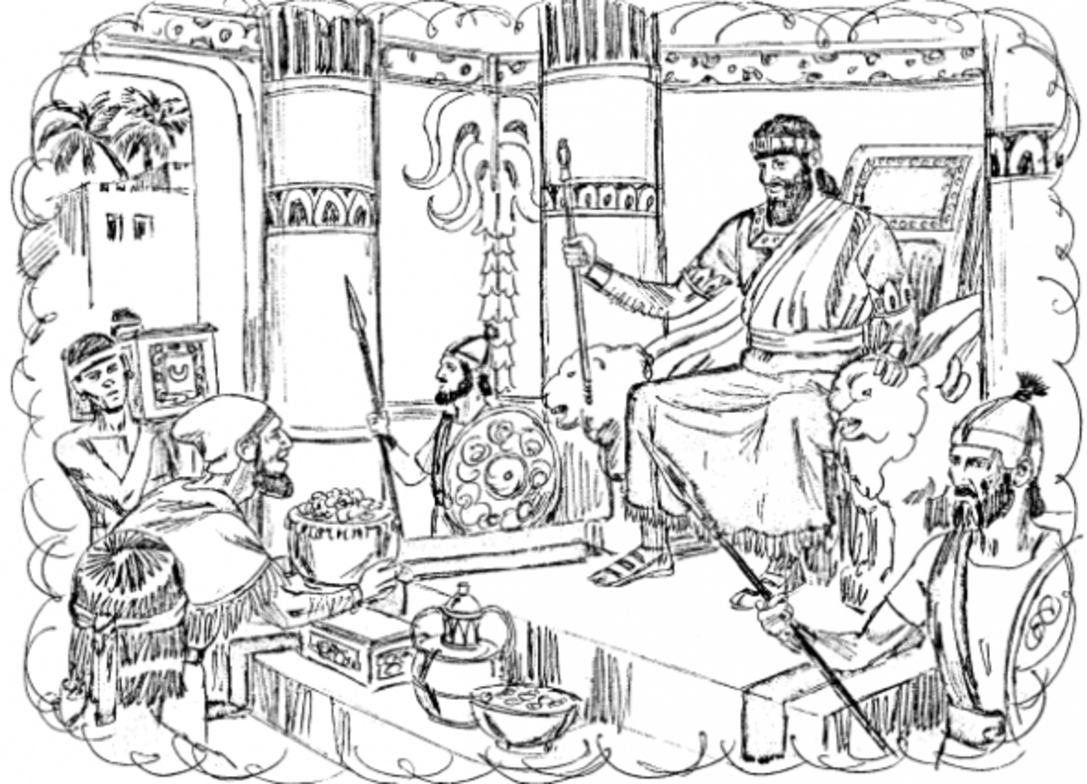 Ahab Defeats Syria Coloring Page