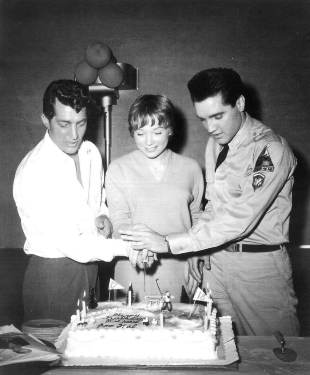 Dean Martin, Shirley MacLaine, Elvis Presley