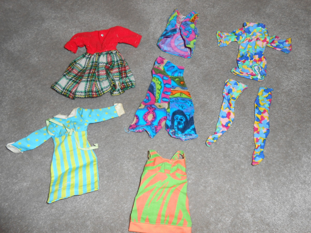 This set of vintage Barbie doll clothes from the 1960s had a starting bid of $3.99 and when I went to bed on the last night of the auction, they were at a bid of $4.25 and when I woke up, they had sold for $22.72!