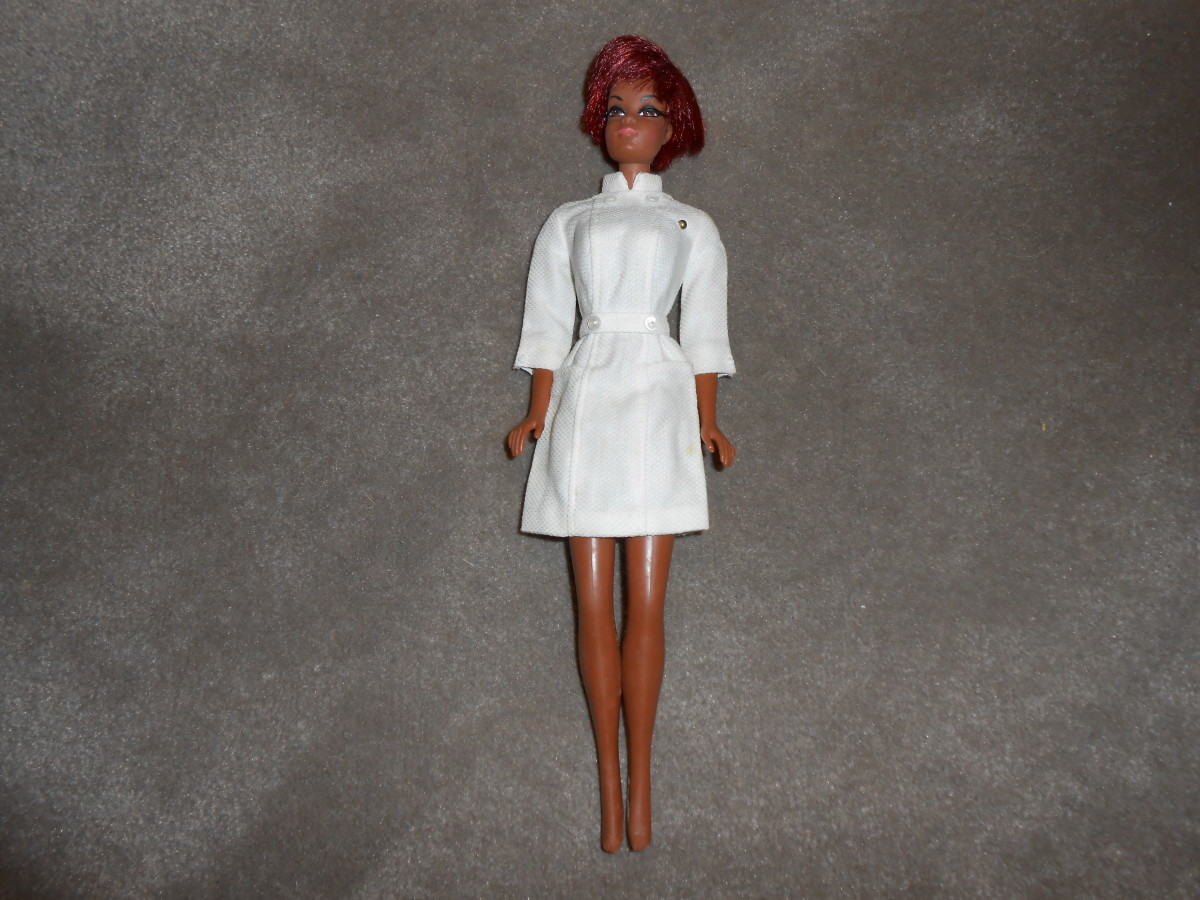 This was the first Barbie doll that I sold on eBay and she went for $24.99. It's a Julia Barbie doll. from the 1960s sitcom of the very same name, starring Diahnn Carroll.
