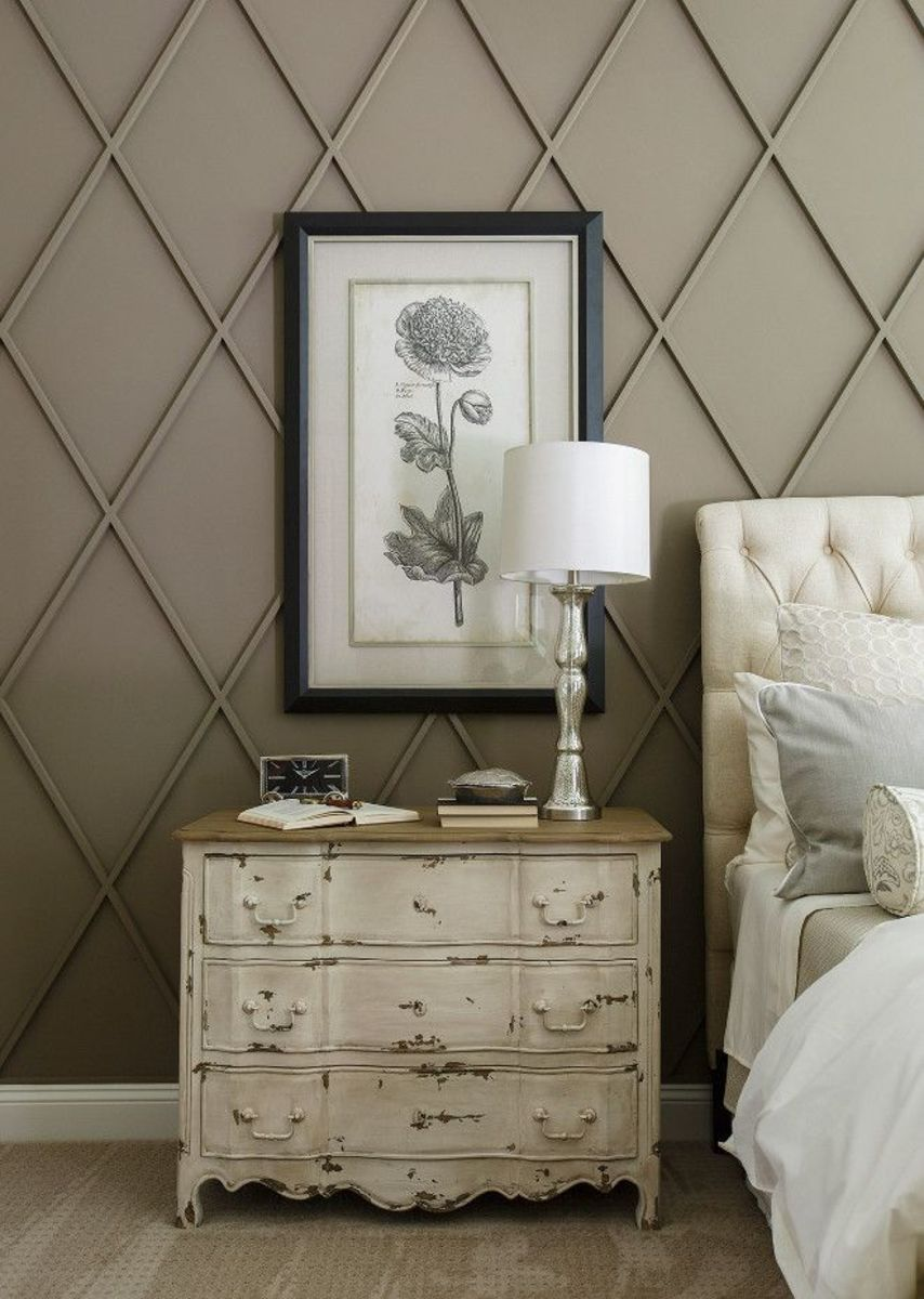 Cottage Home Company Sherwin Williams SW 7039 Virtual Taupe. Diamond Wall Paneling Dimensions.