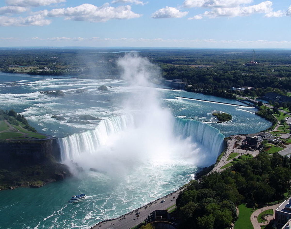 Horseshoe Falls at Niagara.  Image courtesy Wikipedia Commons.