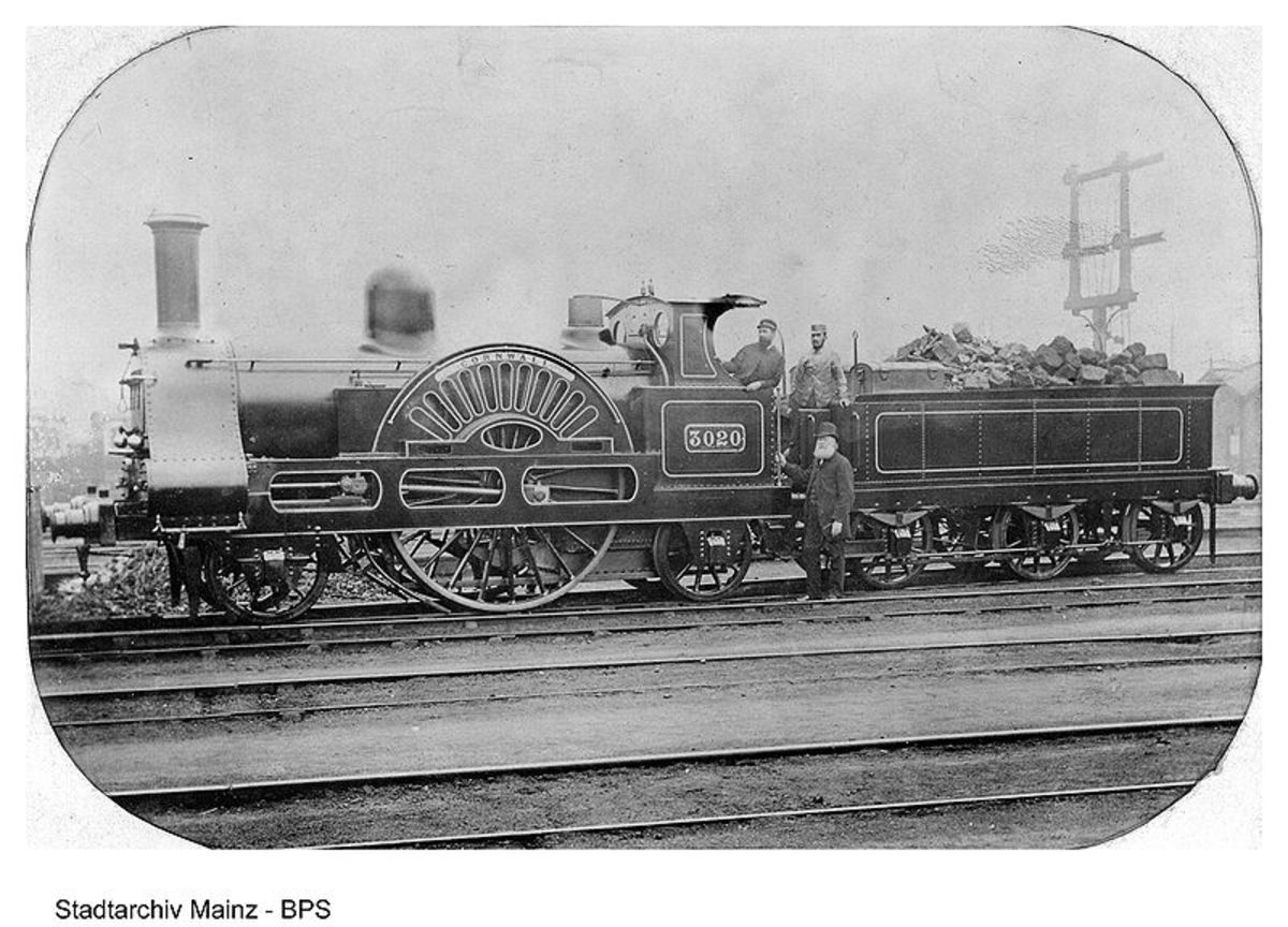 A locomotive from Tyndall's days as railroad surveyor.  Image courtesy Wikipedia Commons.