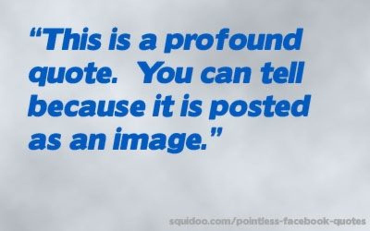This is a profound quote. You can tell because it is posted as an image.