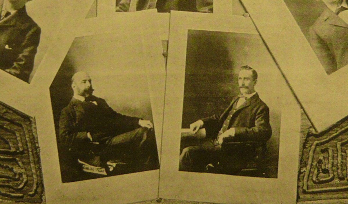 Portraits of Vancouver-based architects John Edmeston Parr (left) and his partner, Thomas Arthur Fee (right), 1900