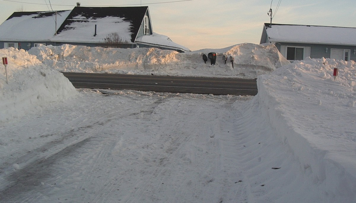 The end of your driveway after the first snow clearing