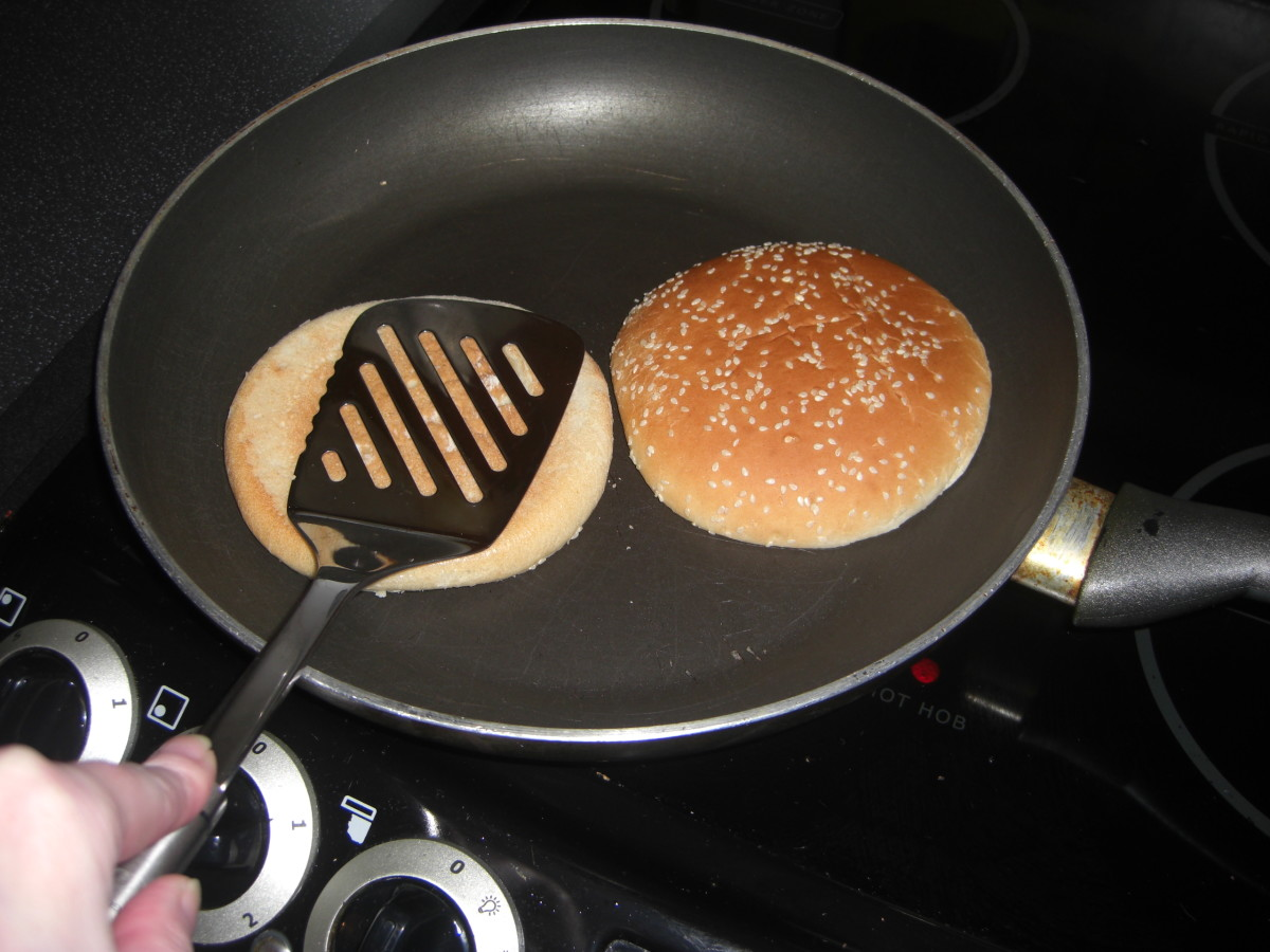 Toast your buns in a dry frying pan