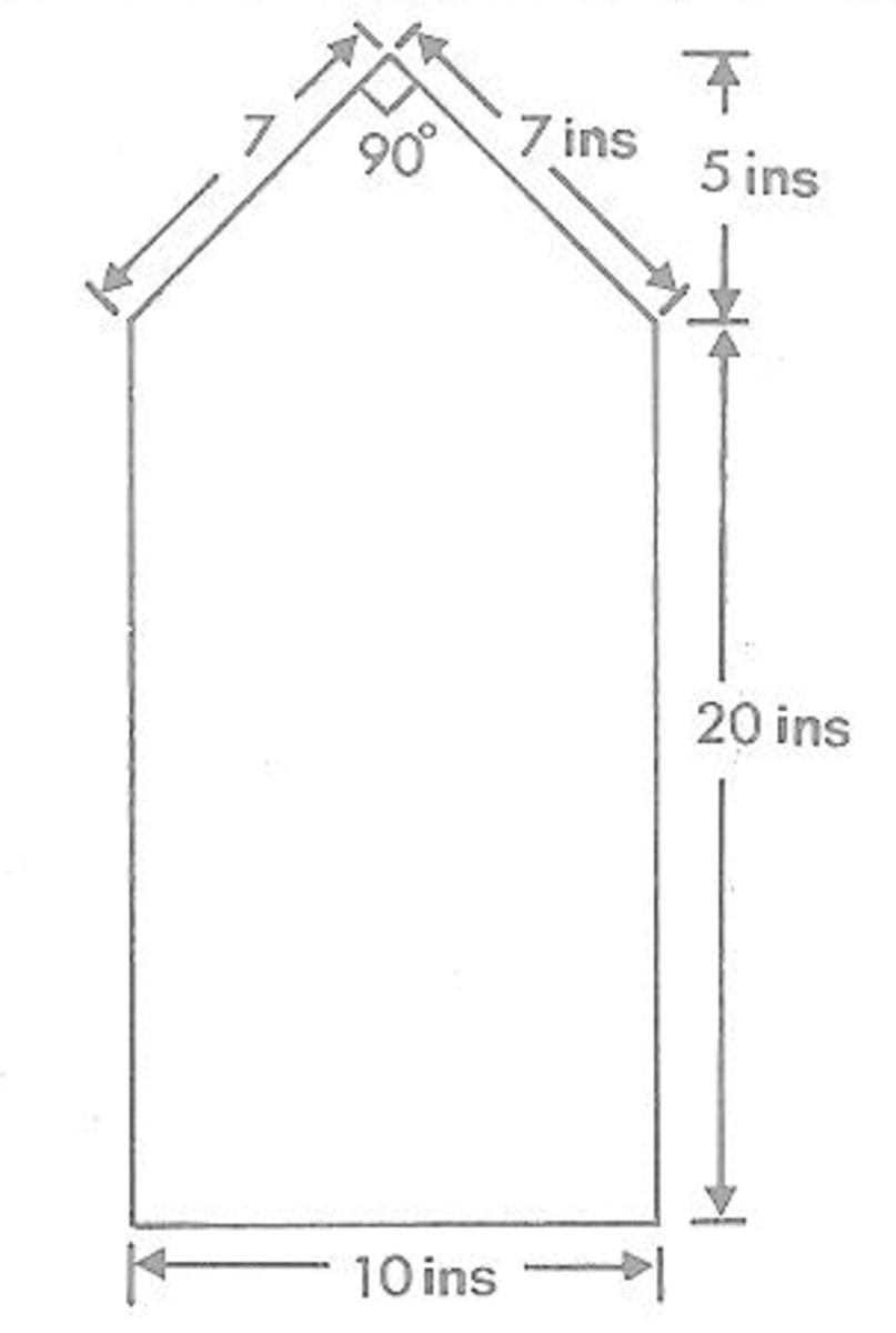 Figure 1 - Measurements for Dollhouse Side