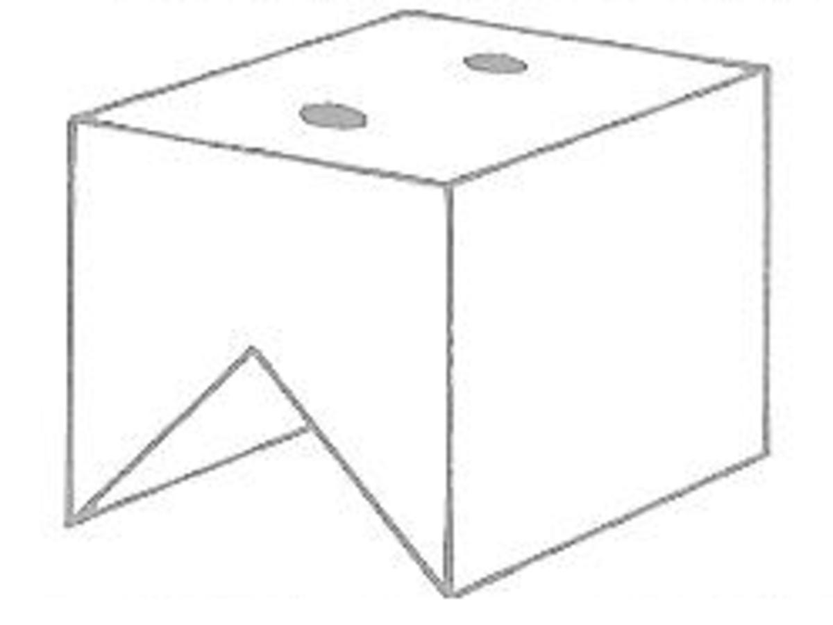 Figure 9 - Making the Dollhouse Chimney