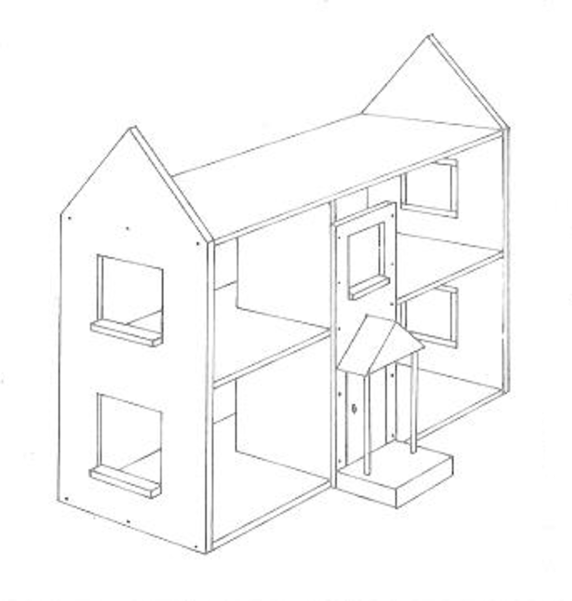 Figure 6 - Dollhouse Front Panel in Place