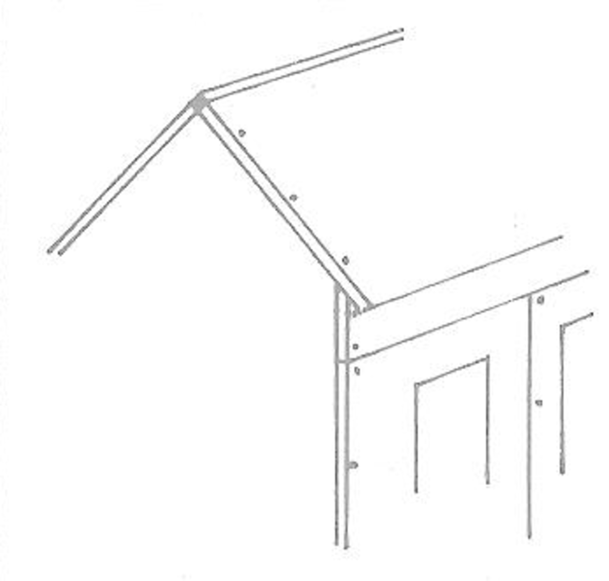 Figure 8 - Apex of Dollhouse Roof