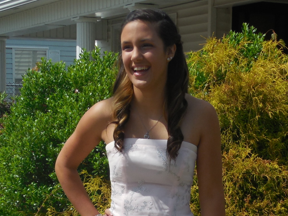 Our second oldest on her prom night.