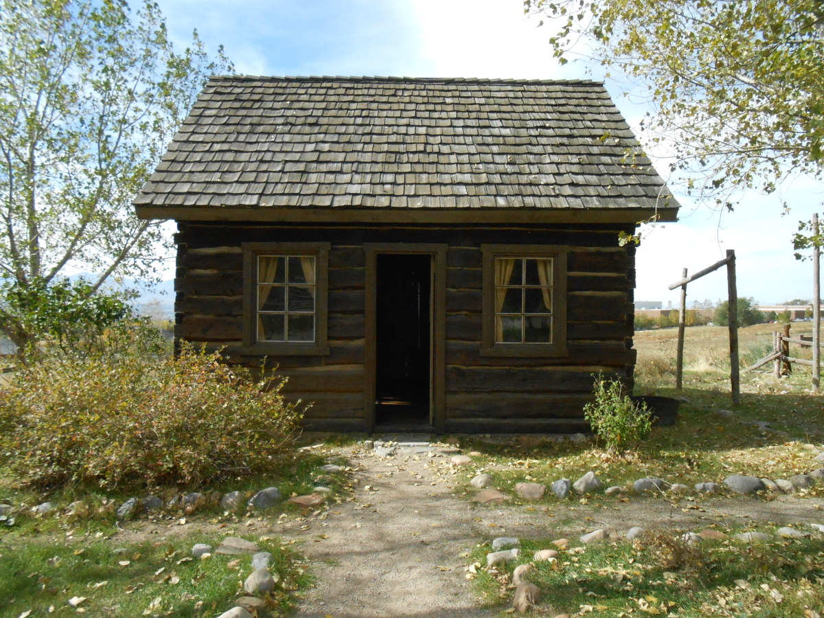 Log cabin built by a couple in Utah in 1868.