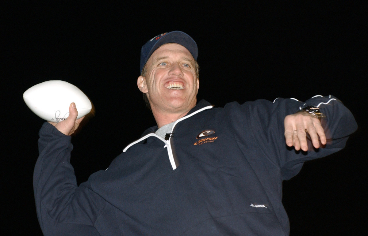 Late New York Yankees owner George Steinbrenner thought John Elway would be a standout outfielder.
