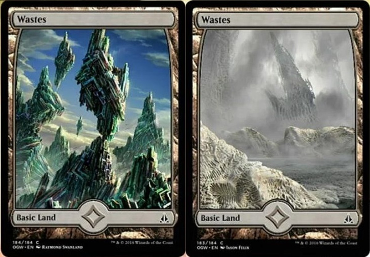 Full-art waste lands in Magic