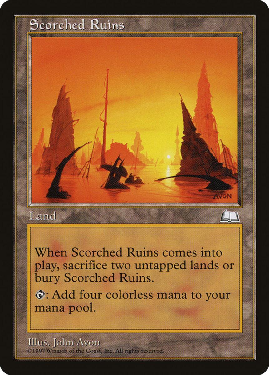 Scorched Ruins mtg