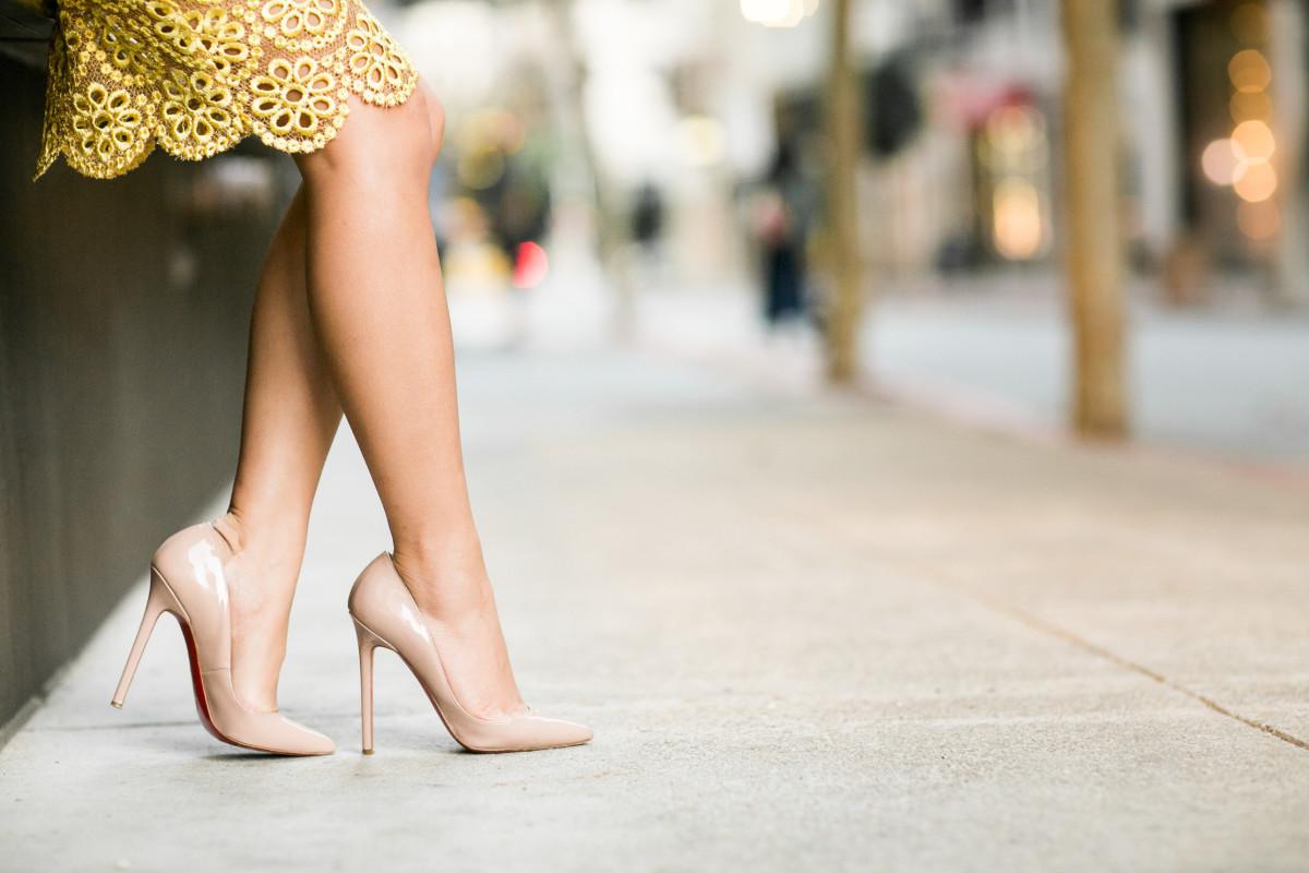 The sheer natural bare leg appearance