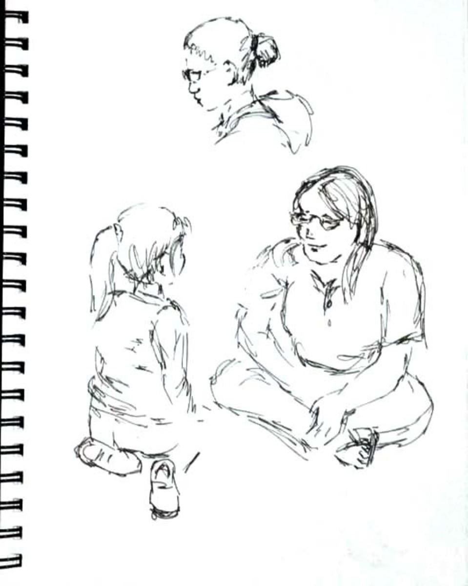 Sketches in pen in my tablet