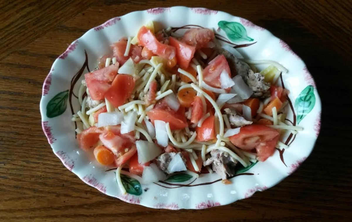 Easy Pasta Salad made with Leftovers