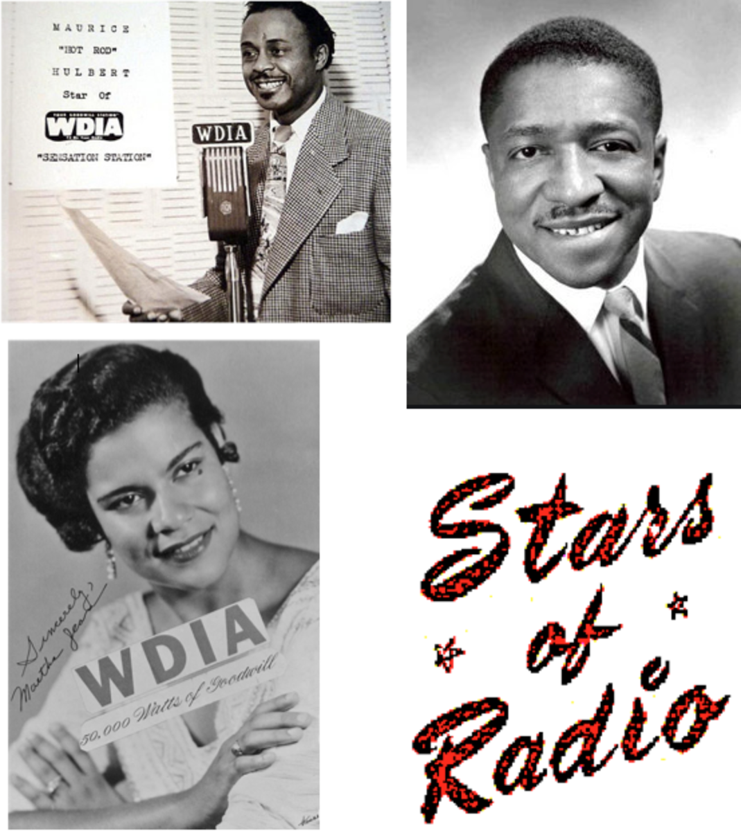 """Top left to right: Maurice """"Hot Rod"""" Hulbert, Robert """"Honeyboy"""" Thomas, and Martha Jean, """"the Queen"""" Steinberg, were some of the many radio stars at WDIA."""