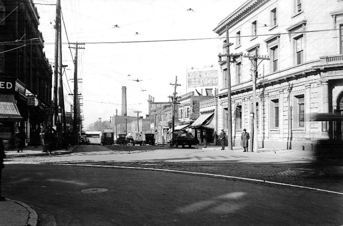 Keele and Dundas Streets, looking north (Toronto, Canada), 8 October, 1923