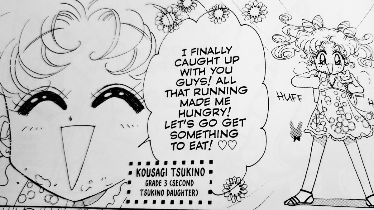 Kousagi Tsukino, the (so far) manga-only and full-blood younger sibling of Chibiusa.