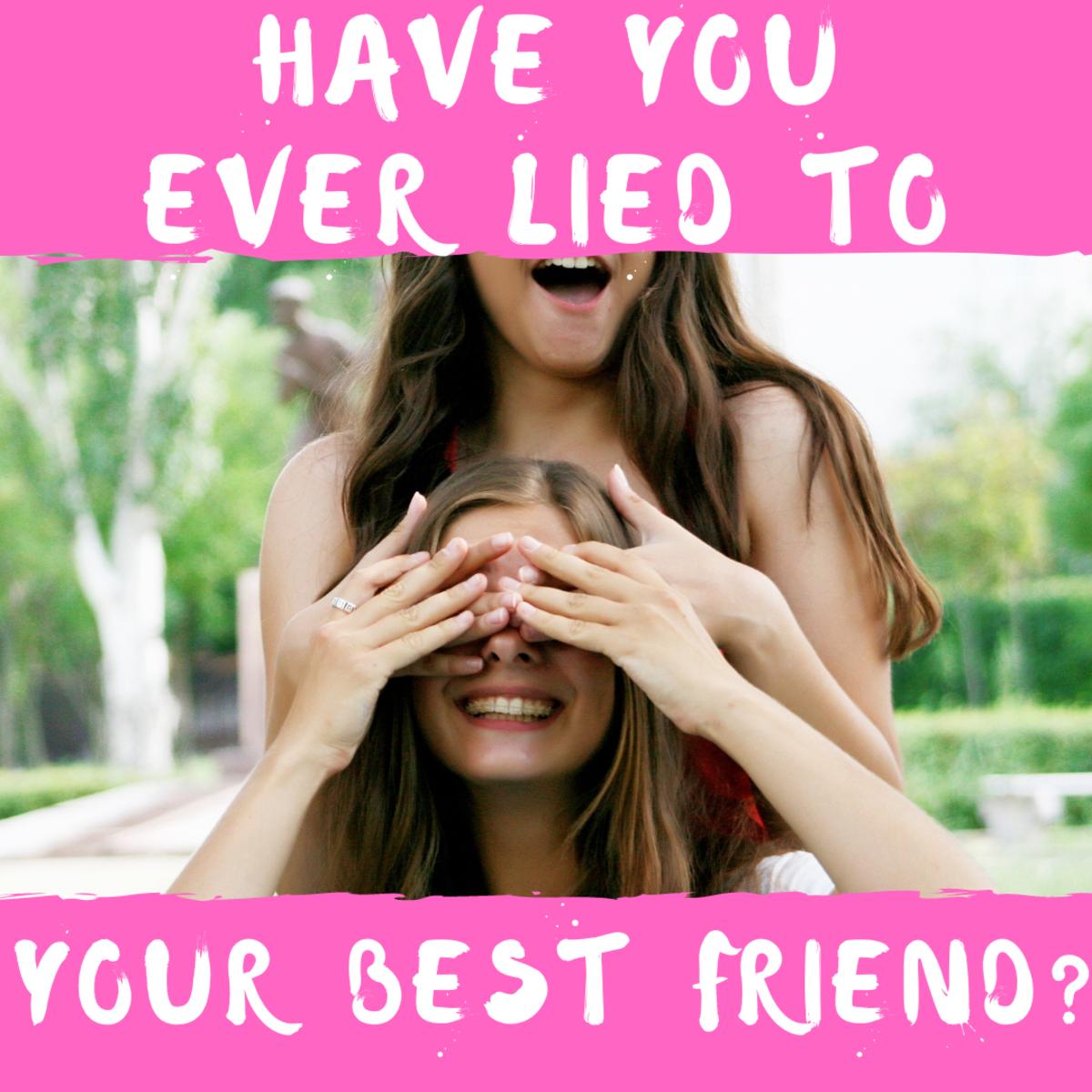 It can be a big lie or a little lie...