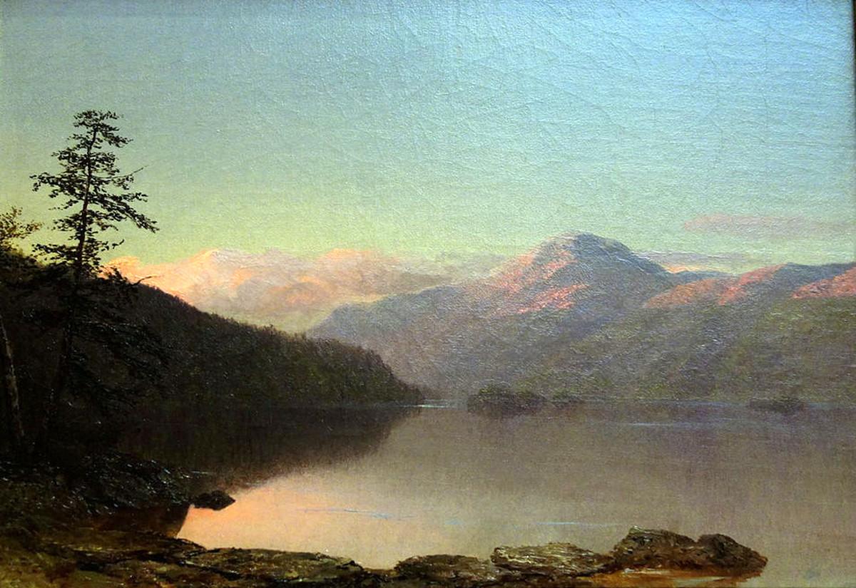 View of Lake George, N.Y. by Homer Dodge Martin.