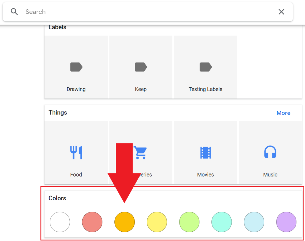 Searching For Your Notes in Google Keep