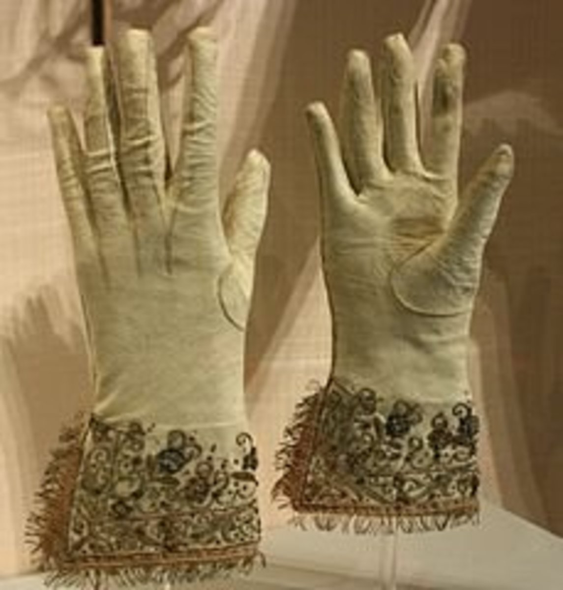 Embroidery on Gloves in Museum