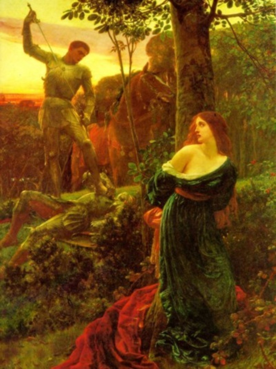 Both paintings by Sir Frank Bernard Dicksee