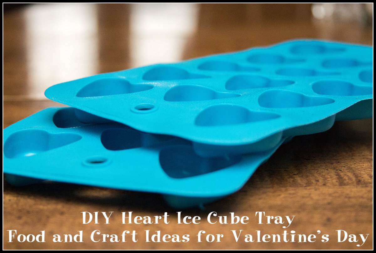 DIY Heart Ice Cube Tray Food and Craft Ideas for Valentine's Day