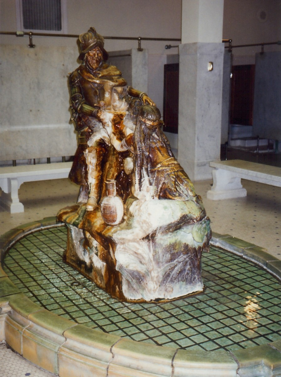 The Fountain of Youth Statue in the central men's bath hall