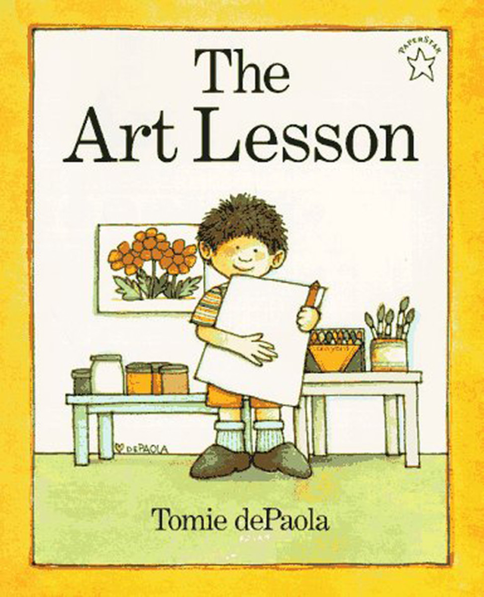 The Art Lesson by Tomie de Paola is a classic story about coloring outside of the lines.