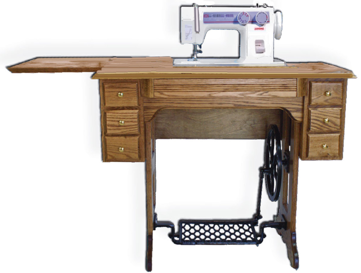 Treadle sewing machines are very popular among sewers even non-Amish