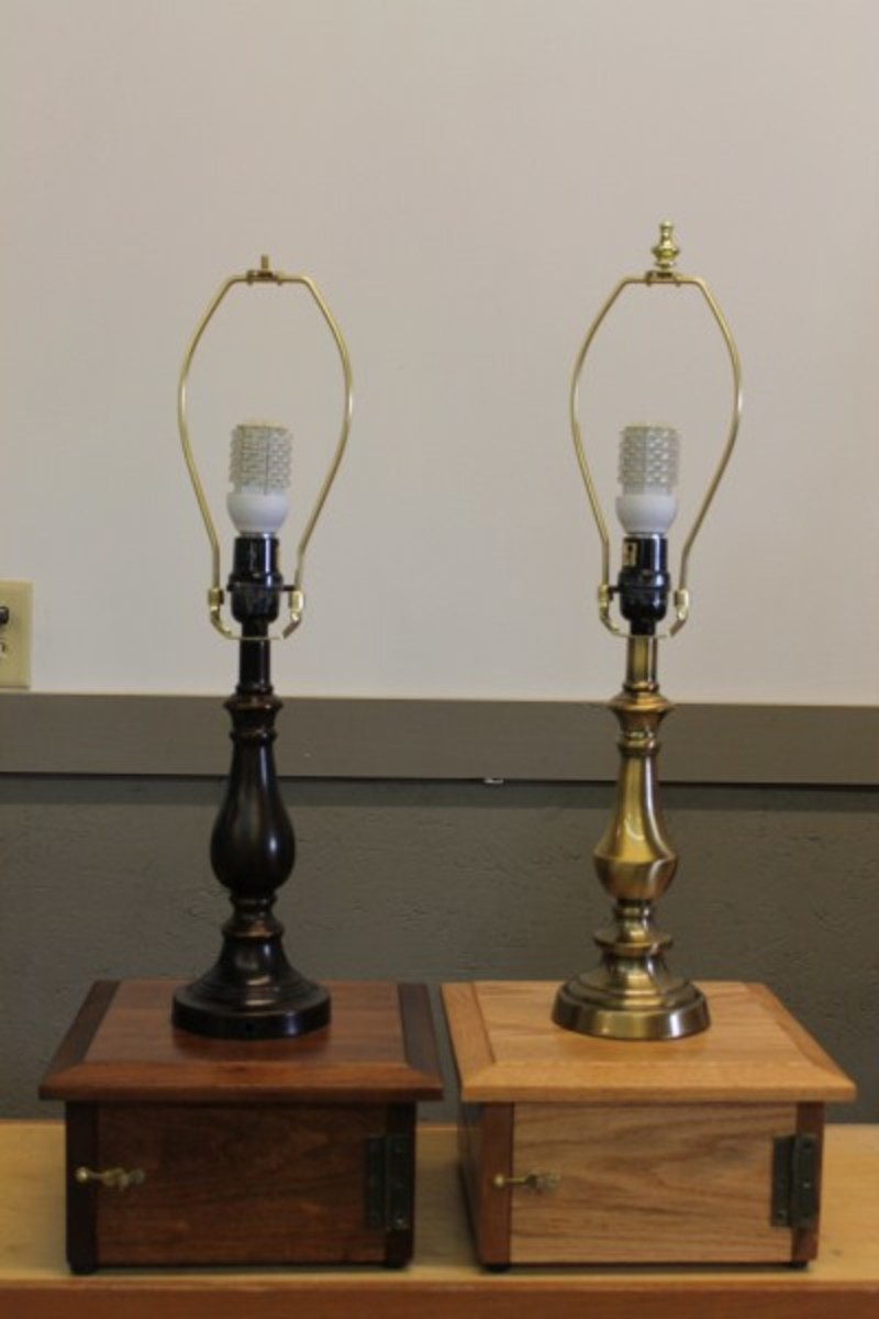 Battery powered DC lighting is being used in the Amish communities.  Equipped with a 12 volt LED light these lamps can provide evening lighting for up to a week.