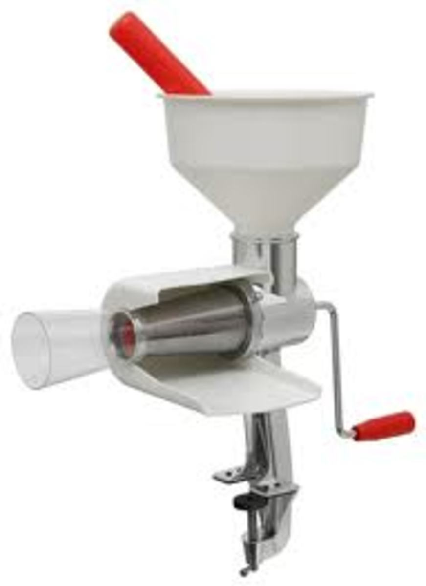 Simple hand crank tools can extract the juice, discard the seeds and core in one pass to make all types juices and sauces.