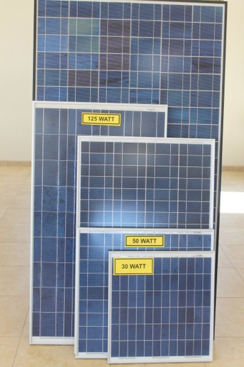 Solar panels can be used in a complete off gird or back up power supply free from fossil fuels.