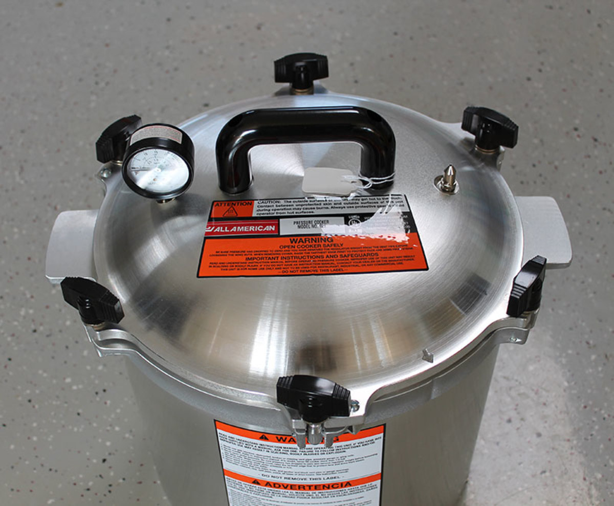 American made pressure cookers make home food preservation quickly.