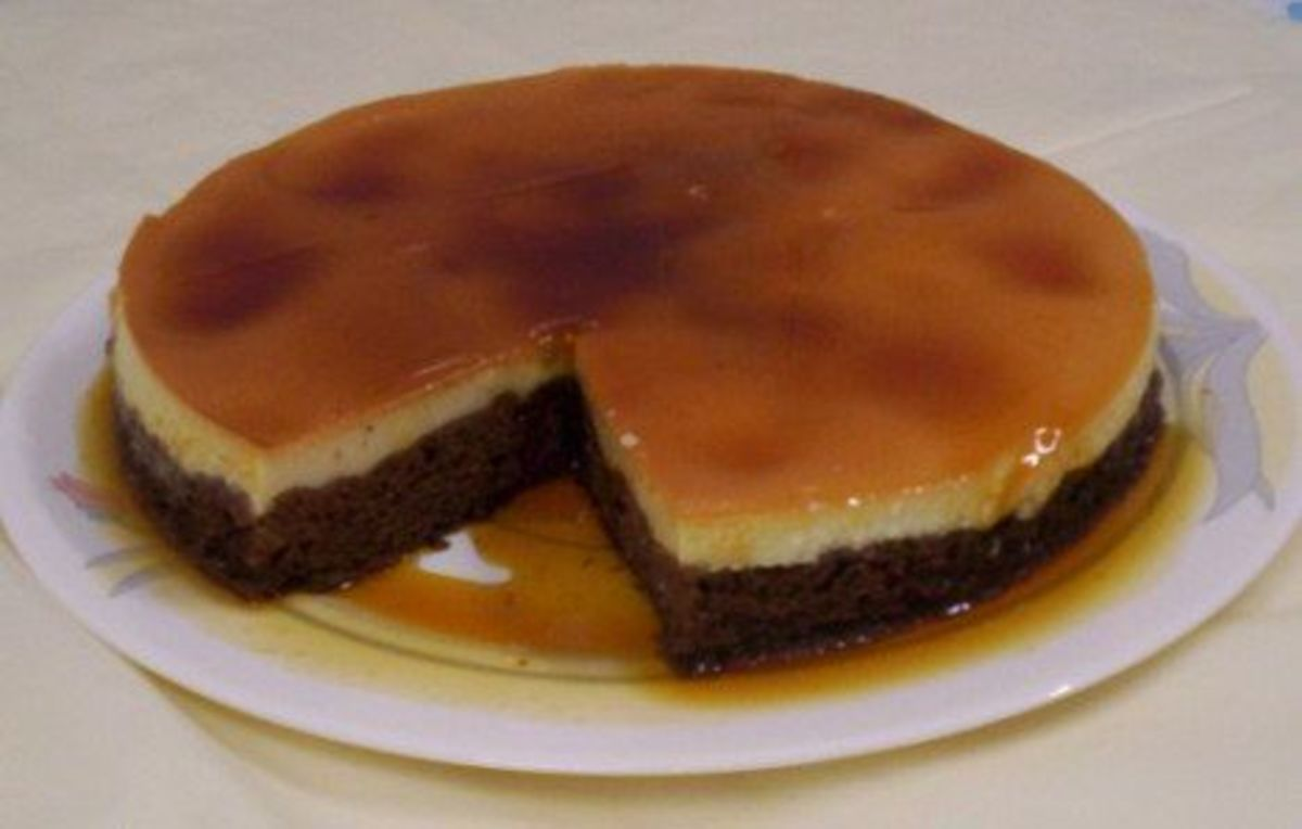 Chocolate Cake With Crème Caramel