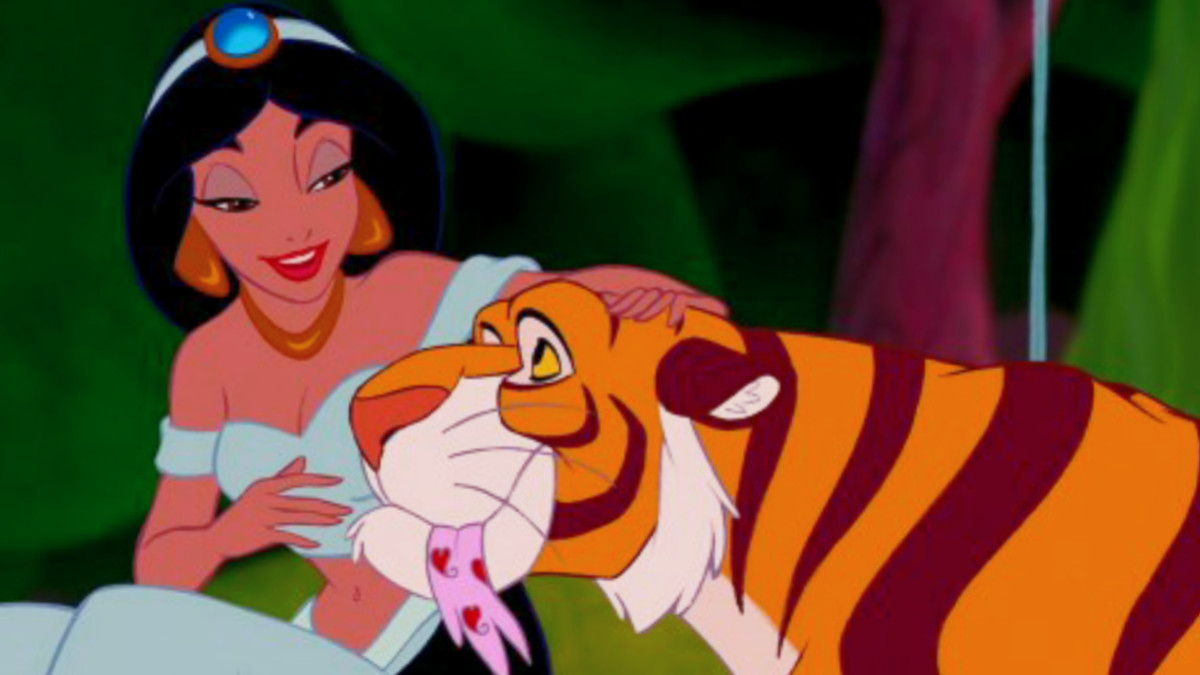 This author has chosen not to depress you with an image of Bambi in mouring, so here's a nice picture of Princess Jasmine doing her best Carole Baskin impression.