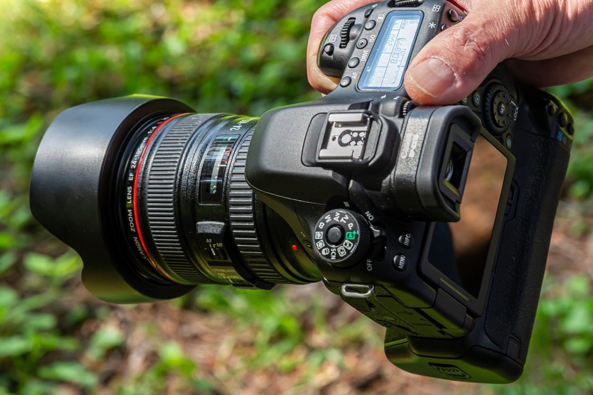 A typical SLR camera.