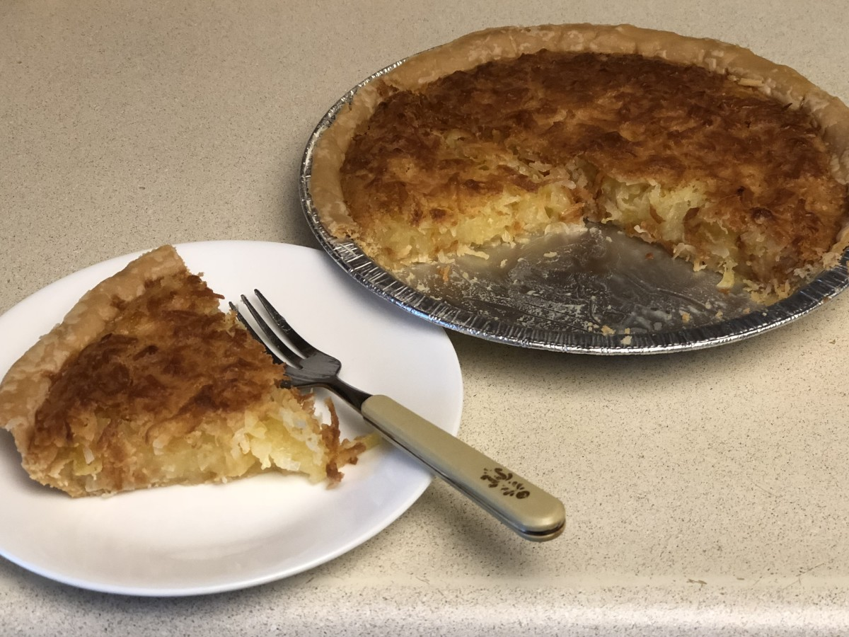 Mom's Best Pies- Pineapple Coconut Pie, Sweet Potato Pie, and Pecan Pie