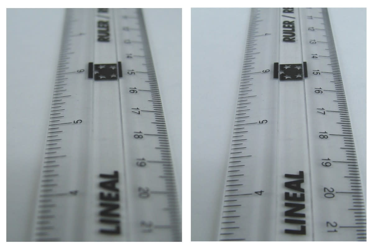 Showing the effects of depth of field in an image. a large f-stop was used for the image on the left, resulting in a smaller depth of field.