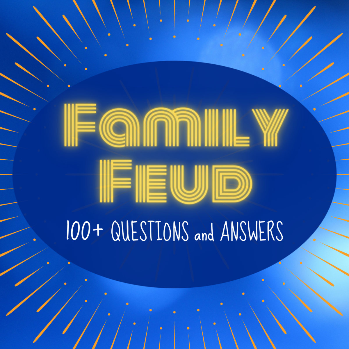 """""""Family Feud"""" is a fun game that's perfect for parties and gatherings. You can even play it online over Zoom or Skype!"""