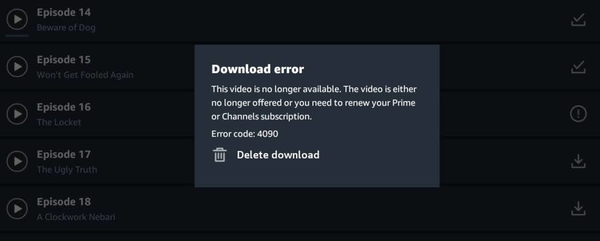 How I solved the Prime Video Error code: 4090