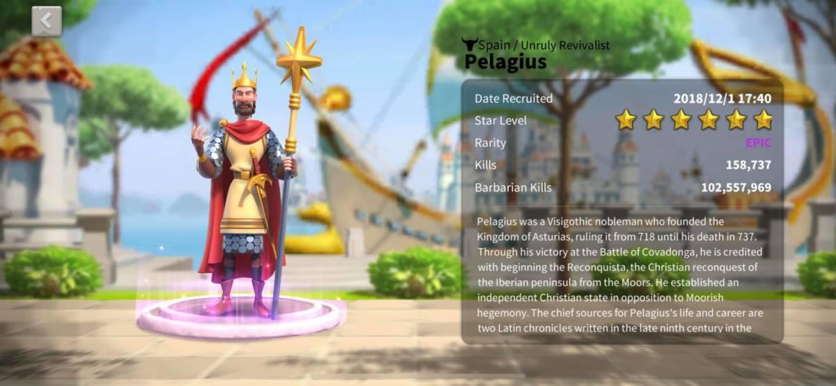 Pelagius Profile Page Info