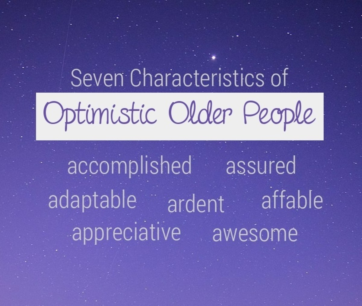 Some older folk remain healthy in mind and spirit despite their physical decline.